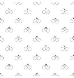 boxing gloves pattern seamless vector image