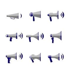 Bullhorn megaphone communication sound vector image