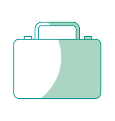 Business suitcase portfolio document accessory vector
