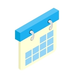Calendar isometric 3d icon vector image