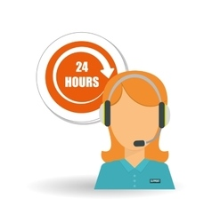 call center icon design vector image