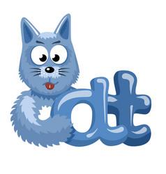 cat logotype vector image
