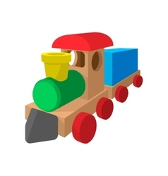 children train cartoon icon vector image