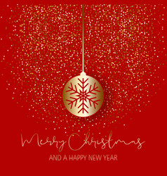 christmas bauble on glitter background vector image