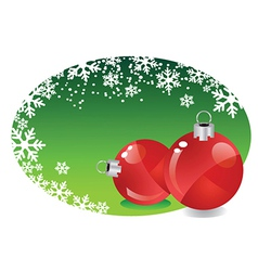 Christmas baubles in frame vector image