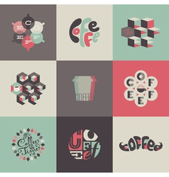 Coffee emblems and labels - set of posters vector