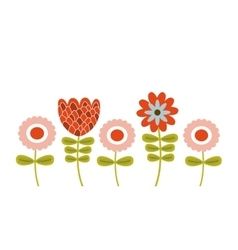 Colorful flowers design vector