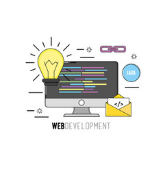 Computer with code programing software data vector