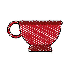 Cup red doodle vector