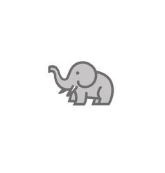 cute elephant ivory and horns logo design vector image