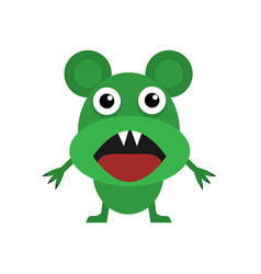 cute green mouse vector image