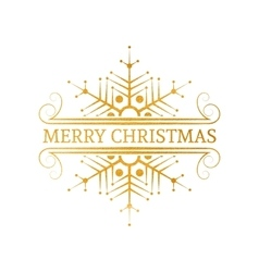 Decorative gold Christmas design element vector