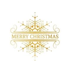 Decorative gold christmas design element vector
