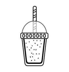 Delicious tasty drink cartoon vector