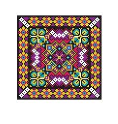 Ethnic ukrainian mosaic vector