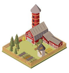 farm isometric design vector image