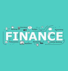 Finance word desigh vector