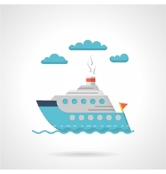 Flat design icon for steamer vector