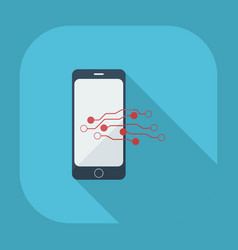 flat modern design with shadow phone vector image