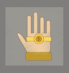 Flat shading style icon kids bracelet hand vector