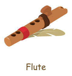 flute icon isometric 3d style vector image