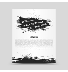 Flyer Design Template Black Friday vector