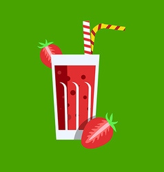 Fresh Strawberry Juice Drink vector image
