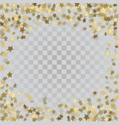 gold 3d stars on transparent background vector image