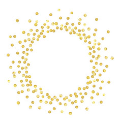gold circle new vector image