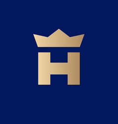 gold crown and h monogram jewelry luxury goods vector image