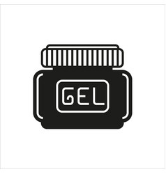 Hair gel simple icon on white background vector