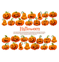 Halloween holiday pumpkin lantern festive banner vector