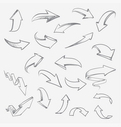 hand drawn arrows set arrow sketch creative vector image