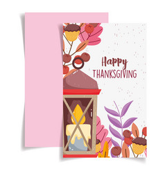 happy thanksgiving poster celebration candle vector image