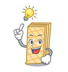 Have an idea waffle mascot cartoon style vector