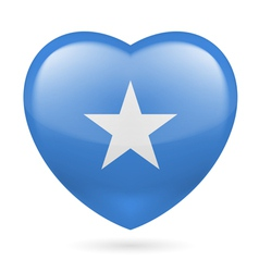 Heart icon of Somalia vector