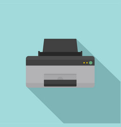 home printer icon flat style vector image
