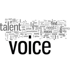 How to hire a voice over talent vector