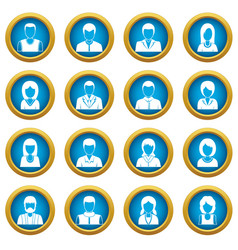 infographic design parts icons blue circle set vector image