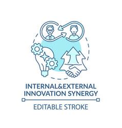 Internal external innovation synergy concept icon vector