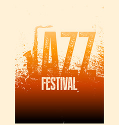 Jazz festival typographical vintage grunge poster vector
