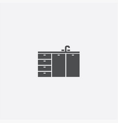kitchen washbasin icon vector image