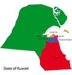 Kuwait map vector image