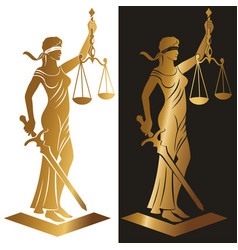 lady justice gold vector image