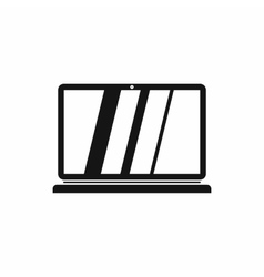 Laptop icon in simple style vector image