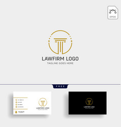 law firm advocate creative logo template with vector image