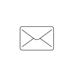 Mail line icon message outline logo vector