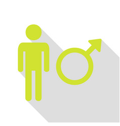 male sign pear icon with flat style vector image vector image