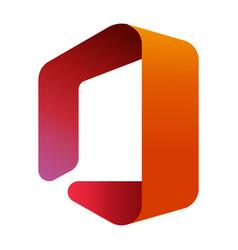 Microsoft office logo editorial vector