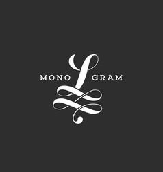 Monogram l vector